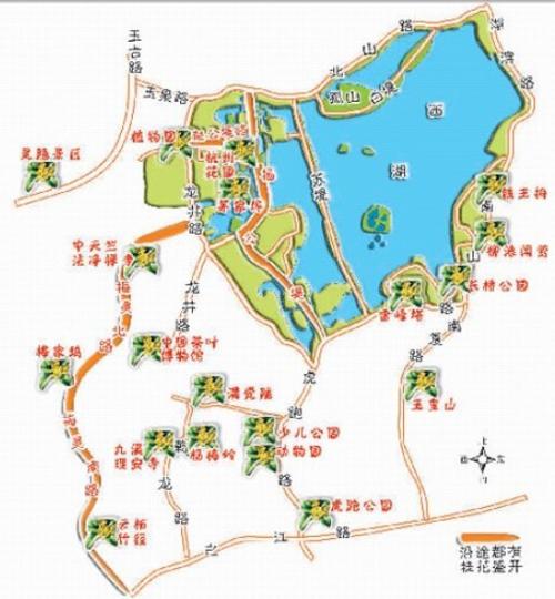 杭州动物园园内地图