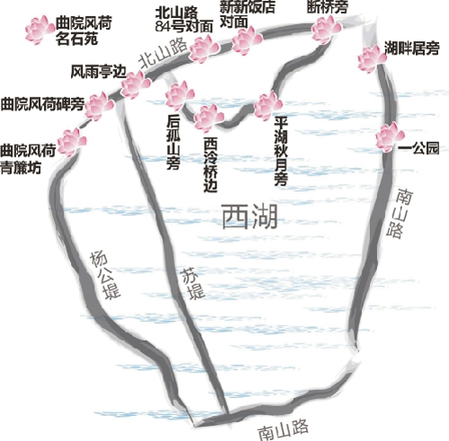 玩杭州的四条风格路线-西湖 河坊街一~三日游   西湖风景名胜区