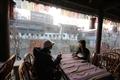 雲水謠餐廳的臨水座位可眺京杭大運河的美景。