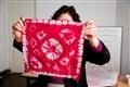 手染絲綢成品展示