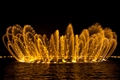 皇冠狀的噴泉造型