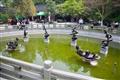 泮池-雕塑著筆墨紙硯字體的半月池