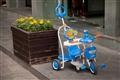 鮮豔的幼兒三輪車