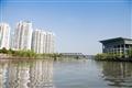 運河兩旁高樓與現在建築