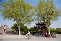 運河文化廣場前的單車