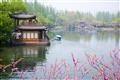 東浦橋-嫣紅的花蕊點綴著湖光山色