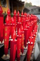 象徵吉利的鮮紅燈燭