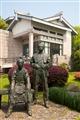 蔡元培與林風眠雕像