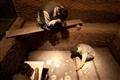 考古挖掘模擬蠟像