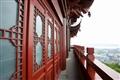 朱紅的中式建築風格